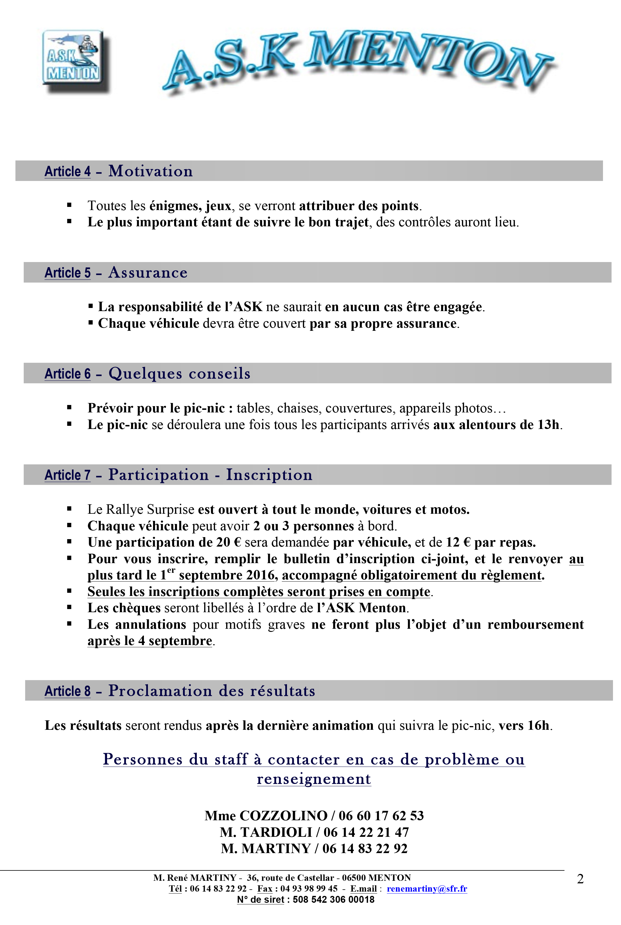 Microsoft Word – REGLEMENT Rallye Surprise 2016.doc